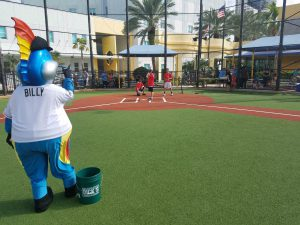 Billy the Marlin Throws a Pitch in the 2017 Challenger Program